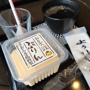 豆腐プリンとドリンクのセット