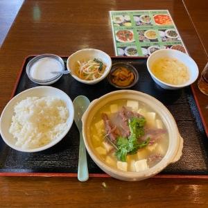 ラム肉と豆腐の煮込み鍋ランチ