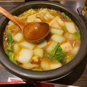 豚角煮豆腐白菜春雨土鍋の煮込み