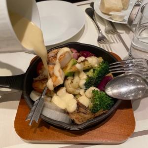 チーズフォンデュで楽しむあったかごろごろ野菜のスキレットとプロシェット
